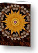 Pearls Greeting Cards - The sun will rise with light and love Greeting Card by Pepita Selles