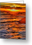 Atlantic Beaches Greeting Cards - The Sunset Greeting Card by Emily Stauring