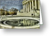 Landscape Photograpy Greeting Cards - The Supreme Court and Plaza Greeting Card by Steven Ainsworth