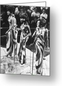 Fashion Greeting Cards - THE SUPREMES, c1963 Greeting Card by Granger