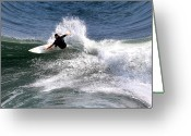 Big Wave Surfing Greeting Cards - The surfer Greeting Card by Tom Prendergast
