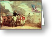 1732 Greeting Cards - The Surrender of Cornwallis at Yorktown Greeting Card by John Trumbull