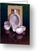 Pitcher Painting Greeting Cards - The Surrogate Greeting Card by Jane Bucci