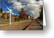 Lassen Greeting Cards - The Susanville Train Depot Greeting Card by James Eddy