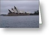 Realism Greeting Cards - The Sydney Opera House  Greeting Card by Brian Leverton