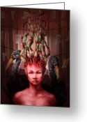 Royalty Digital Art Greeting Cards - The Symbolist Greeting Card by Ethan Harris