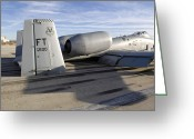 Touchdown Greeting Cards - The Tail Section Of An A-10 Thunderbolt Greeting Card by Stocktrek Images