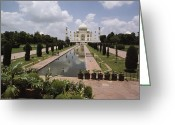 Asian Architecture And Art Greeting Cards - The Taj Mahal In Agra, India Greeting Card by James P. Blair