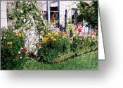 Most Greeting Cards - The Tangled Garden Greeting Card by David Lloyd Glover