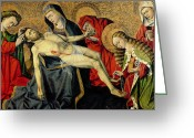 Pieta Painting Greeting Cards - The Tarascon Pieta Greeting Card by French School