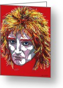 Stewart Greeting Cards - The Tartan of Rod Stewart Greeting Card by Suzanne Gee