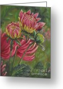 Flower. Petals Pastels Greeting Cards - The Tear Greeting Card by Debbie Harding