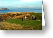Golf Digital Art Greeting Cards - The Tee Greeting Card by Lyle  Huisken