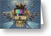 Couch Greeting Cards - The Television Will Not Be Revolutionised Greeting Card by Rob Snow