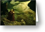 Albert Greeting Cards - The Tempest Greeting Card by  Albert Pinkham Ryder
