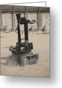 Suspicion Greeting Cards - The Teodor Heavy-duty Bomb Disposal Greeting Card by Terry Moore