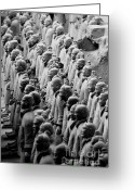 Archaeology Archeological Greeting Cards - The Terracotta Army Greeting Card by Sami Sarkis