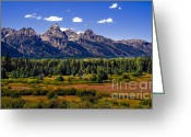 Stupendous Greeting Cards - The Tetons II Greeting Card by Robert Bales