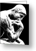 Decide Greeting Cards - The Thinker Greeting Card by Stephen Younts