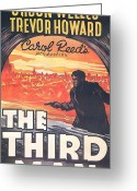 Film Noir Greeting Cards - The Third Man  Greeting Card by Nomad Art and  Design