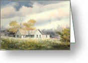 Abandoned House Painting Greeting Cards - The Thompson Place Greeting Card by Sam Sidders