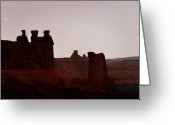 Geologic Formations Greeting Cards - The Three Gossips Arches National Park Utah Greeting Card by Christine Till