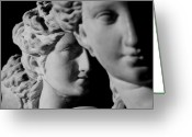 Sculptural Greeting Cards - The Three Graces Greeting Card by Roman School