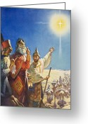 Balthasar Greeting Cards - The Three Wise Men  Greeting Card by James Edwin McConnell