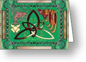 Celtic Knots Greeting Cards - The Tie that Binds Greeting Card by Mike Sexton