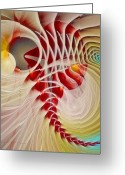 Fractal Art Pastels Greeting Cards - The Ties That Bind Us Greeting Card by Gayle Odsather