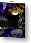 Clocks Digital Art Greeting Cards - The Time Greeting Card by Angel Jesus De la Fuente