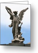 Angel Posters Greeting Cards - The time has come. Greeting Card by Jeffery Bradford