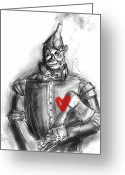 Axe Greeting Cards - The Tin Man Greeting Card by Russell Pierce