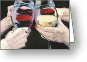 Trumpet Glass Greeting Cards - The Toast Number One  Greeting Card by Christopher Mize