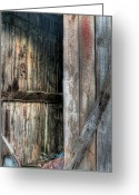 Wooden Barns Greeting Cards - The Tool Shed Greeting Card by JC Findley