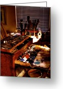 Easel Greeting Cards - The Tools of an Artist Greeting Card by David Patterson
