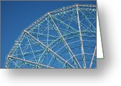 Amusement Park Greeting Cards - The Top Of A Ferris Wheel, Low Angle View Greeting Card by Frederick Bass