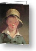 Wearing Greeting Cards - The Torn Hat Greeting Card by Thomas Sully