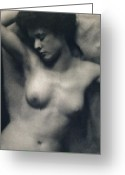 Black And White Photos Painting Greeting Cards - The Torso Greeting Card by White and Stieglitz