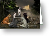 Choosing Digital Art Greeting Cards - The Torture of Choosing Greeting Card by Jutta Maria Pusl