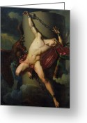 Mythological Greeting Cards - The Torture of Prometheus Greeting Card by Jean-Louis-Cesar Lair