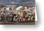 Indian Greeting Cards - The Trail Of Tears Greeting Card by Granger