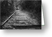 Dark Greeting Cards - The Train That Never Came Greeting Card by Scott Norris