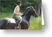 Dressage Photo Greeting Cards - The Trainer Greeting Card by Terry Kirkland Cook