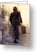 Back Light Greeting Cards - The Tramp Greeting Card by Joana Kruse