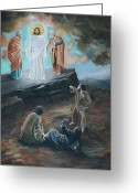 21st Century Art Greeting Cards - The Transfiguration Greeting Card by Cara Zietz
