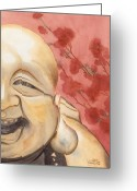 Ken Greeting Cards - The Travelling Buddha Statue Greeting Card by Ken Powers