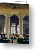 David Greeting Cards - The Treaty of Versailles Greeting Card by Sir William Orpen