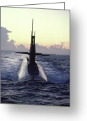 Southern States Greeting Cards - The Trident Nuclear Submarine, Ohio Greeting Card by Michael Melford