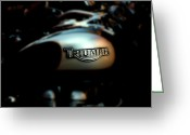 Cycles Digital Art Greeting Cards - The Triumph Greeting Card by Steven  Digman